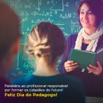 Parabéns a todos os profissionais de Pedagogia!